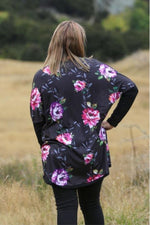 Isabella Kimono - back view - by Emily Rose Designs. Back view. Affordable New Zealand designed women's fashion from our online women's clothing store.