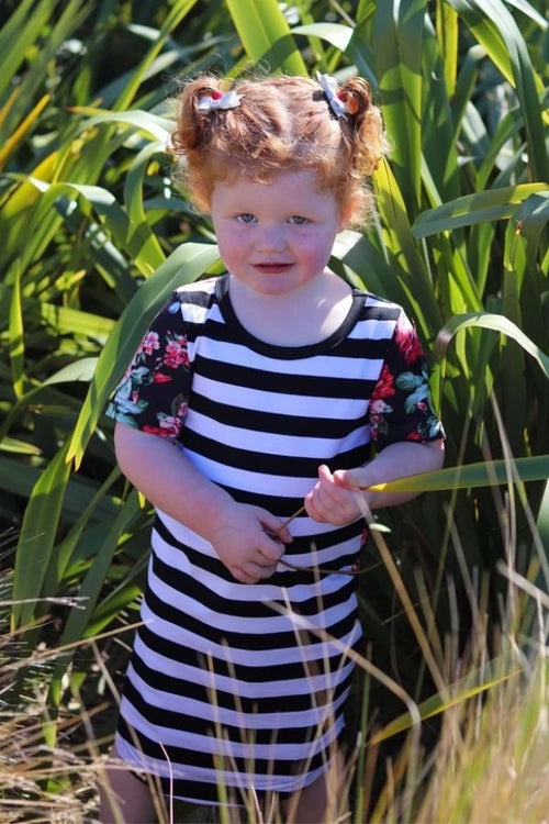 Noelle Dress Mini Me by Emily Rose Designs. Front view. Affordable, comfortable New Zealand designed girls' dresses.