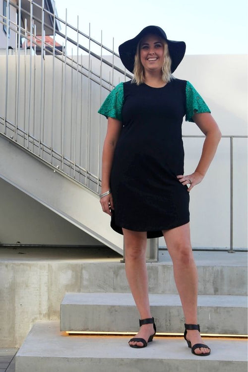 Willow Dress by Emily Rose Designs. Front view. Affordable New Zealand designed women's fashion from our online women's clothing store.