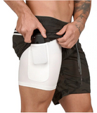 Mountain-X Double Layer Running Shorts | Hidden Pocket For Storage  | Quick Drying