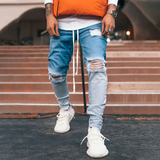Hip Hop Ripped Jeans 2020 | Gradient Denim Pants Slim Fit |  Casual