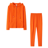 Two Piece Autumn  Tracksuit | Jacket Top With Hood and Pants | Casual Jogger