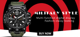 Multifunction Waterproof LED Digital Watch for Men | Army Military Chronograph