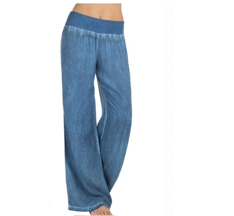 Women's Wide Leg Jeans | Long Casual Pants
