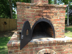 hinged piiza oven door for wood fired oven