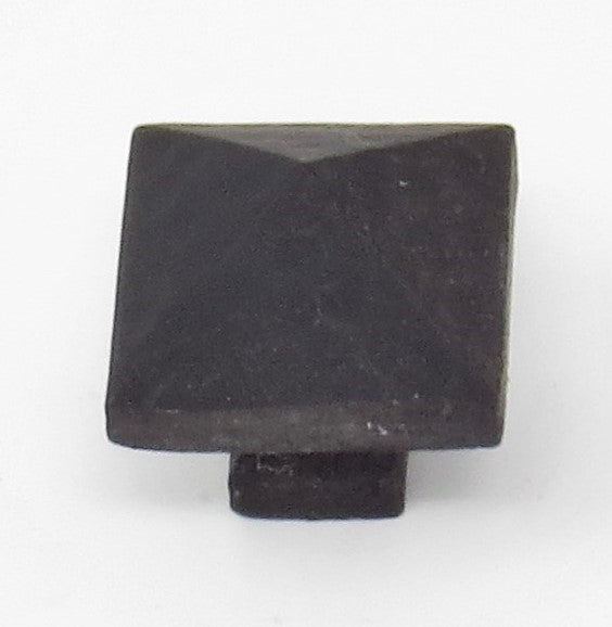 HCK-02-SH Ping Hammered Square Pyramid Small Cabinet Knob