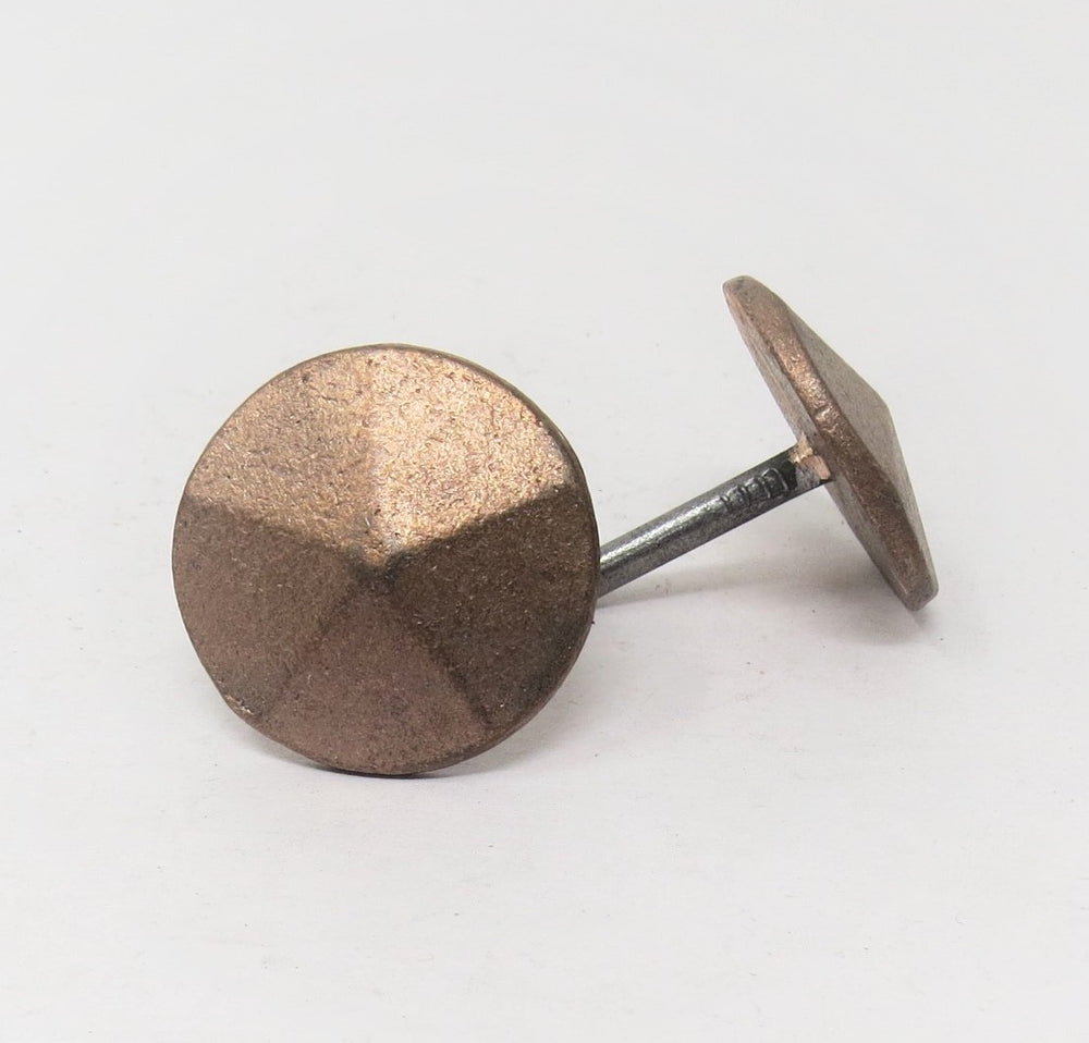 "Load image into Gallery viewer, 1 1/4"" Copper Round Pyramid Head Nail"