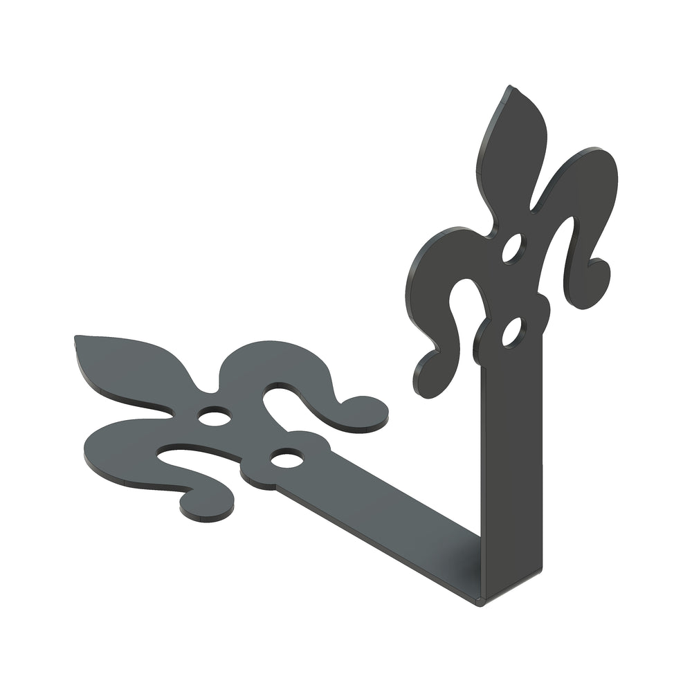 Load image into Gallery viewer, Florence Fleur De Lis Iron Angle Brace