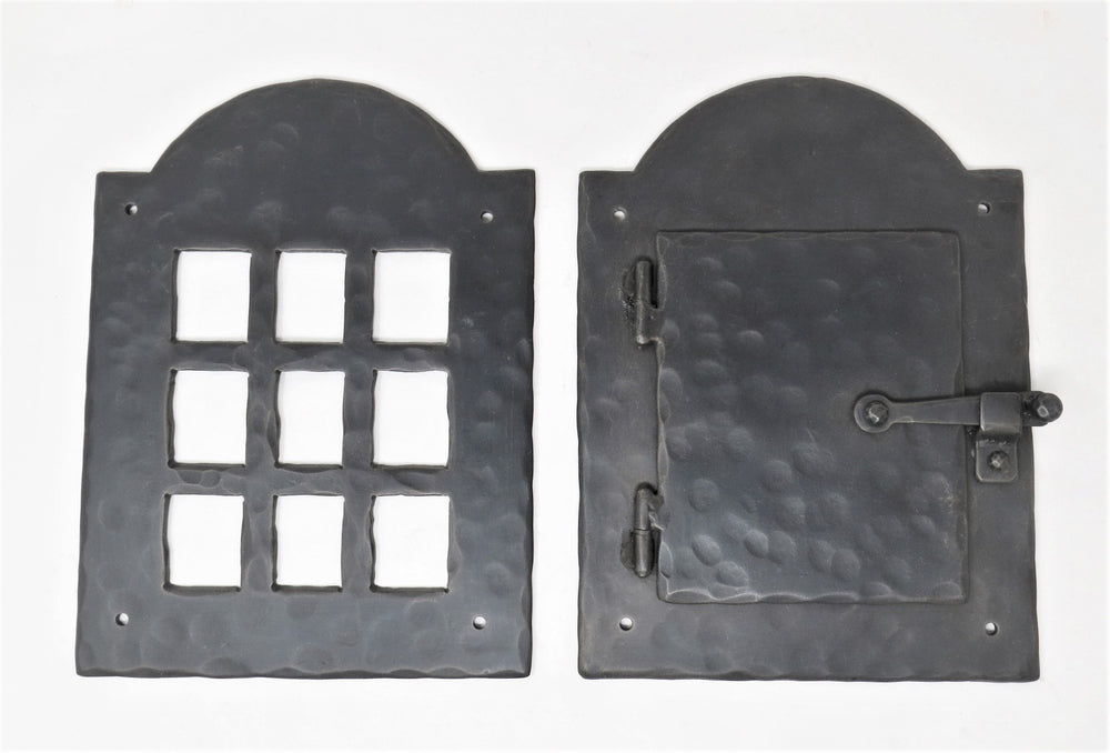 Colonial Iron Speakeasy Door & Grill Set