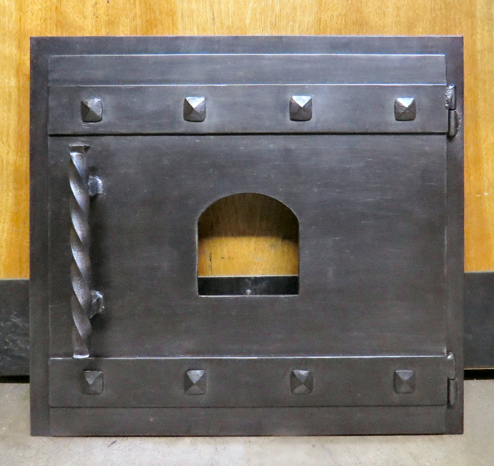 Custom Craftsman Square Hinged Pizza Oven Door