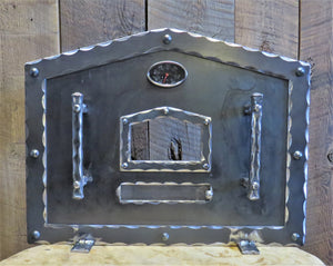 Custom Old World Arched Freestanding Pizza Oven Door