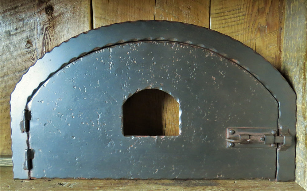 Load image into Gallery viewer, Custom Scandinavian Arched Hinged Pizza Oven Door