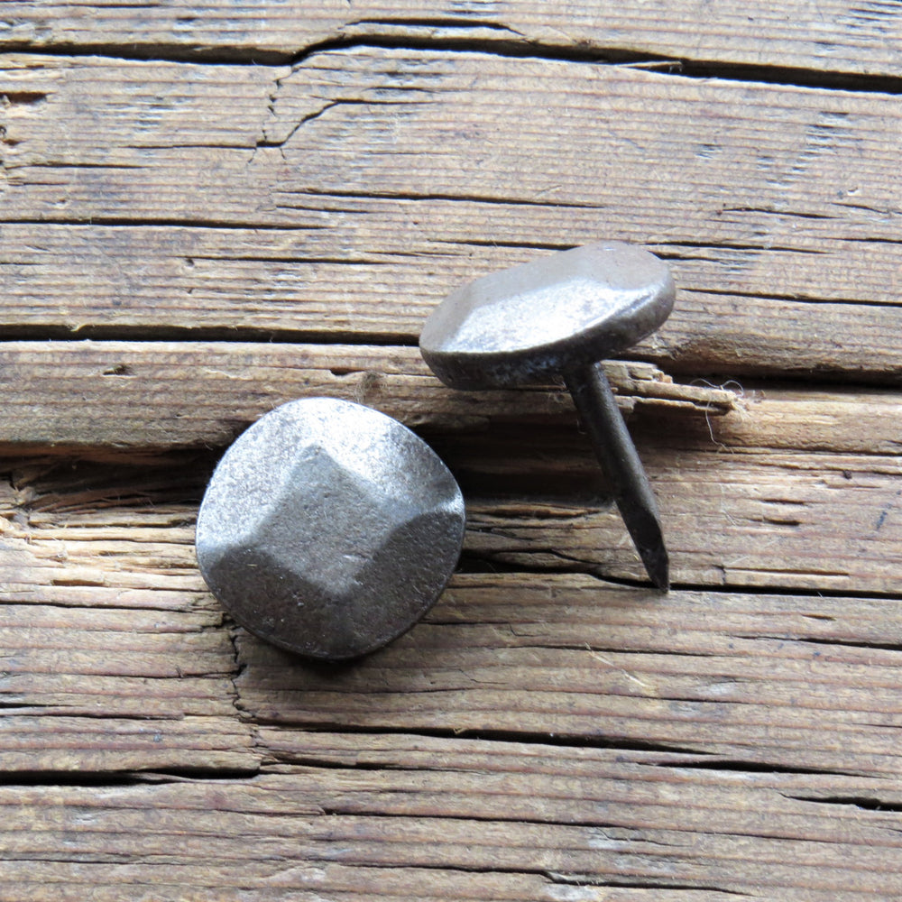 "1 1/4"" Thick Round Hammered Head Nail"