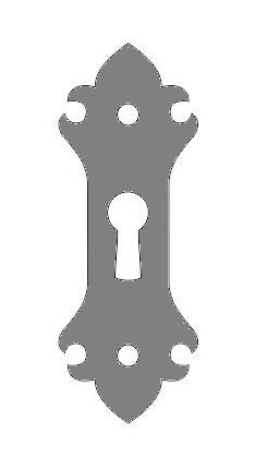 Load image into Gallery viewer, HE-317 British Fleur De Lis Iron  Escutcheon Plate
