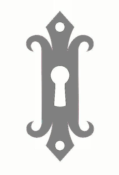 Authentic 15th Century Iron Escutcheon Plate