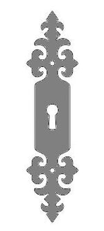 Renaissance Iron Escutcheon Plate Large