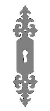 Load image into Gallery viewer, HE-323-L Renaissance Iron Escutcheon Plate Large