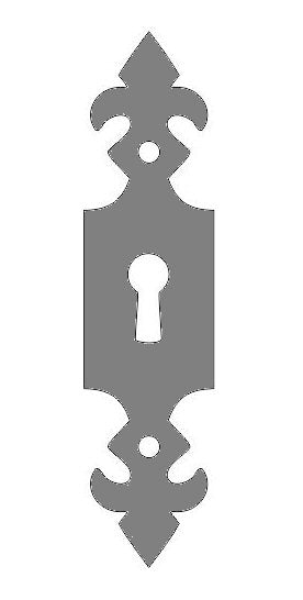 Renaissance Iron Escutcheon Plate Small