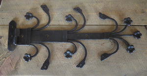 HHS-357-F 14th Century Wrought Iron Hinge Strap