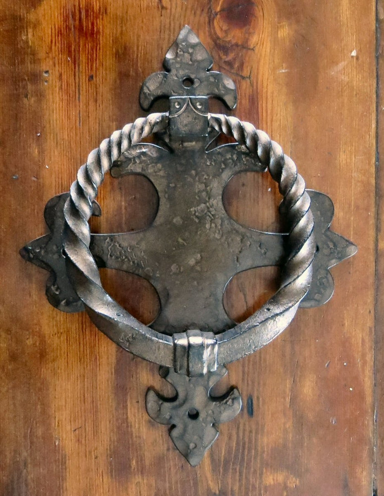 Renaissance Door Knocker / Iron Ring Pull