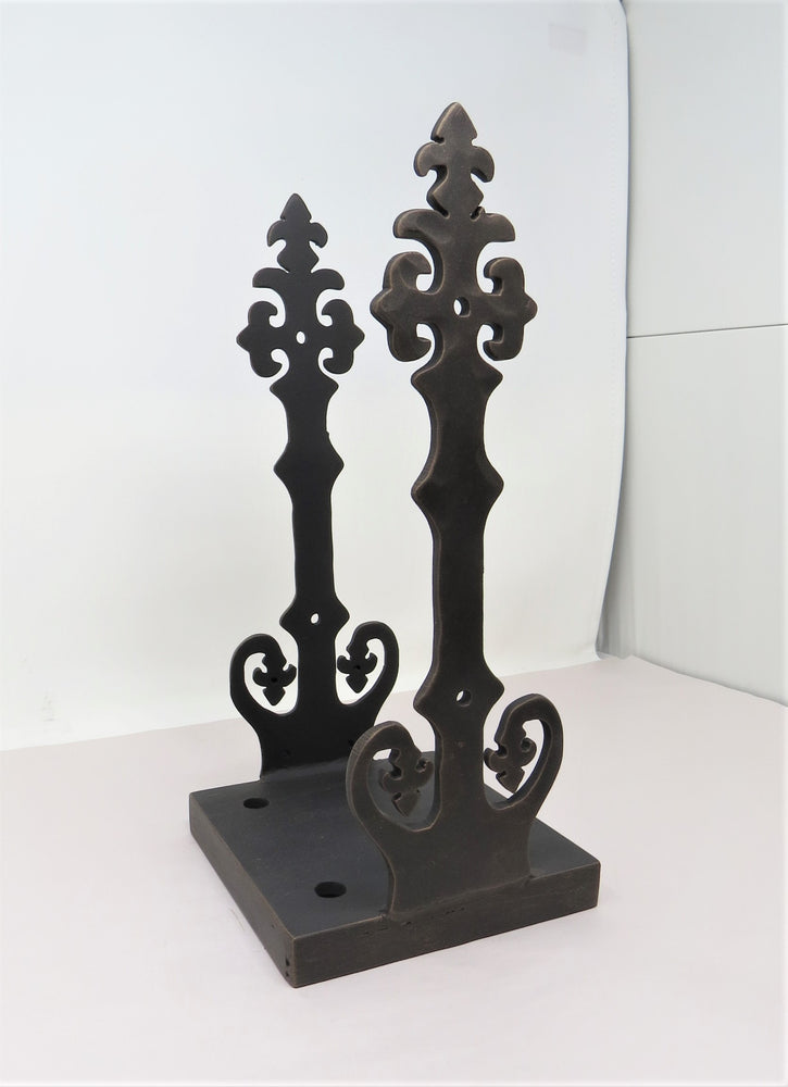 Renaissance Iron Flush Mount Post base