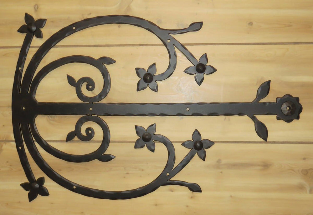 Polish Wrought Iron Faux Hinge Strap