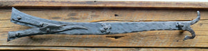 Nordic Iron Age Wrought Iron Faux Hinge Strap