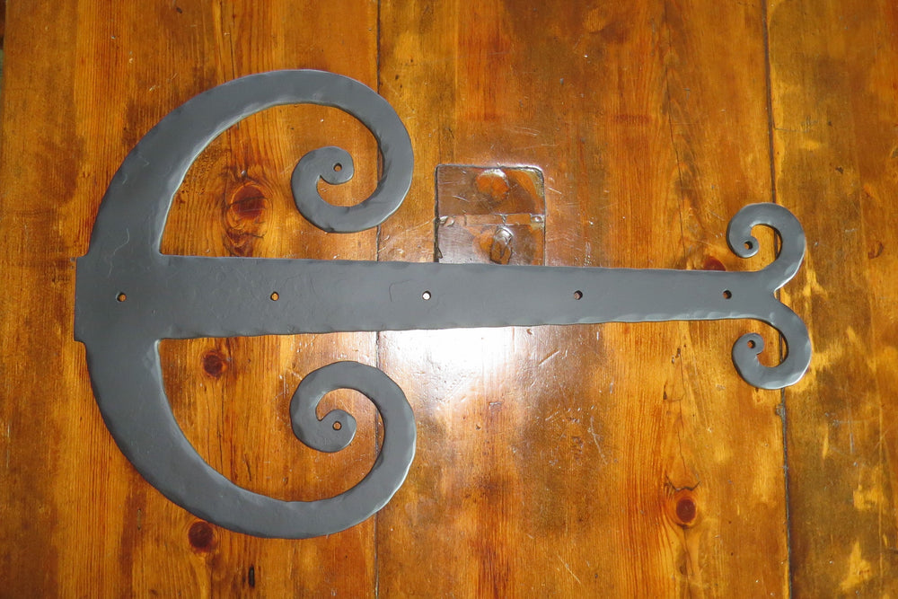 Middle Age Europe Wrought Iron Faux Hinge Strap