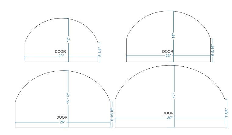 MD-200-A Basic Arched Freestanding Pizza Oven Door