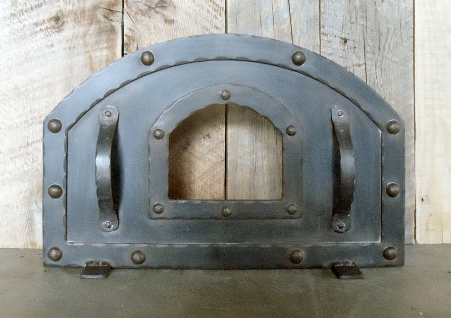 Transitional Arched Freestanding Pizza Oven Door