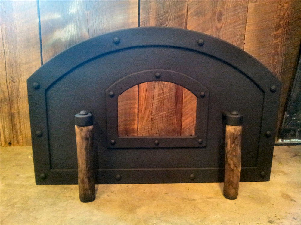 MD-206-A Transitional Arched Freestanding Pizza Oven Door