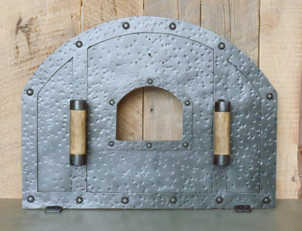 Load image into Gallery viewer, Custom Tuscan Arched Freestanding Pizza Oven Door