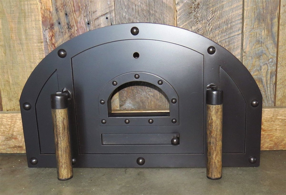 Custom Tuscan Arched Freestanding Pizza Oven Door