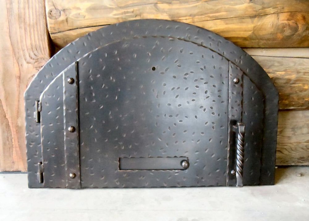 Custom Simple Arched Hinged Pizza Oven Door