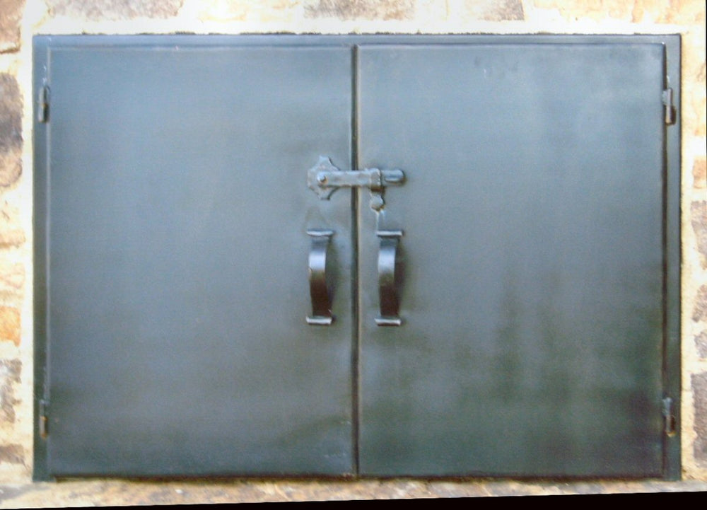 Custom Basic Rectangle Hinged Pizza Oven Door