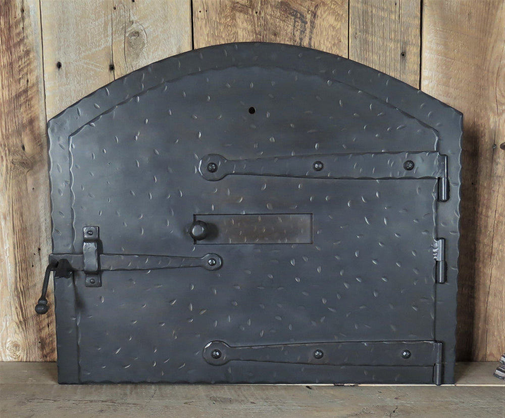 Custom Arched Strap Hinged Pizza Oven Door