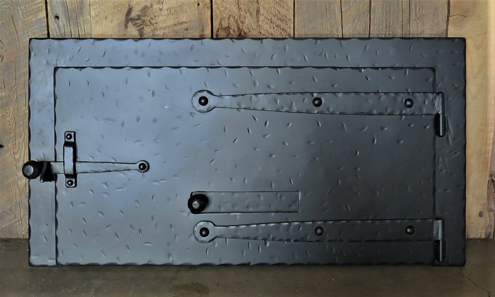 Custom Square Strap Hinged Pizza Oven Door