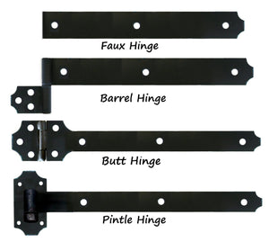 Transitional Wrought Iron Functioning Hinge Strap