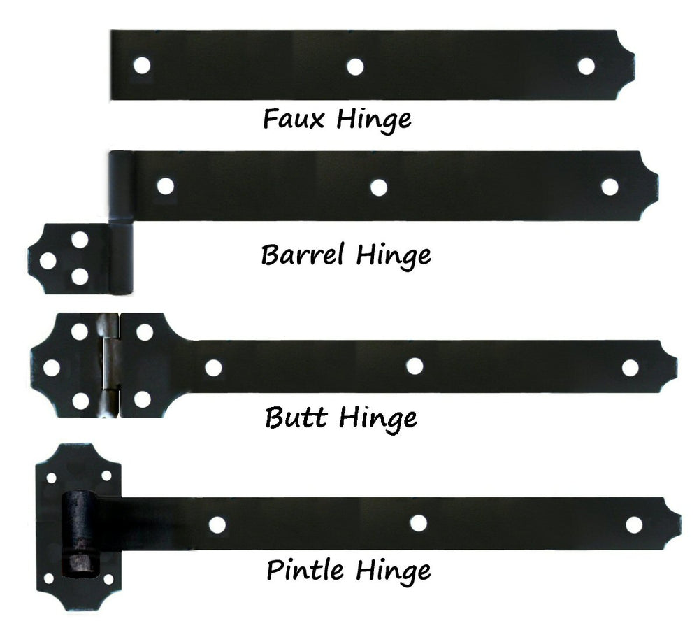 Transitional Wrought Iron XL Functioning Hinge Strap