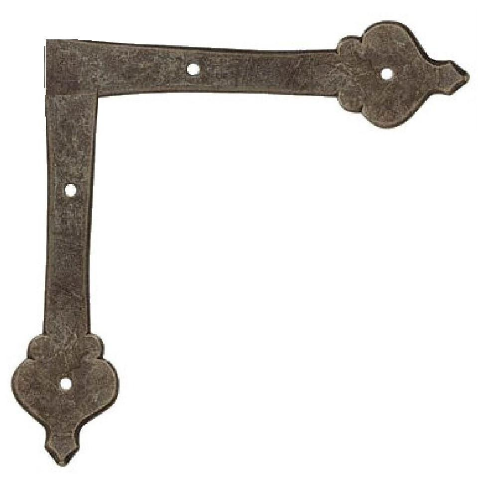 "French Country Revival Iron ""L"" Plate"