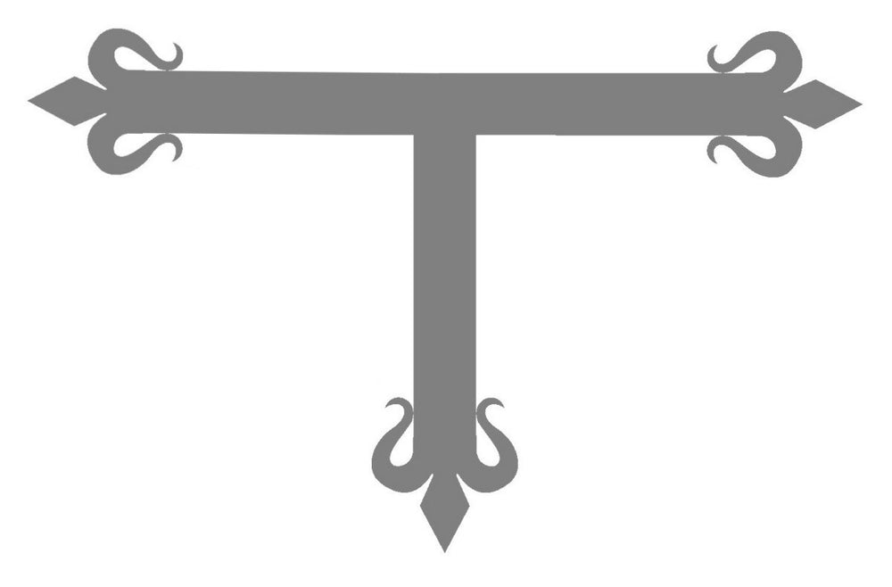 "Spanish Mission Iron ""T"" Strap"