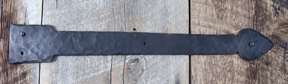 XL Tudor Wrought Iron Faux Hinge Strap