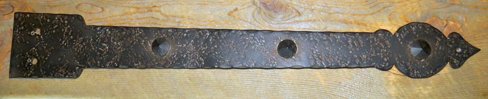 Tudor Revival Wrought Iron Faux Hinge Strap