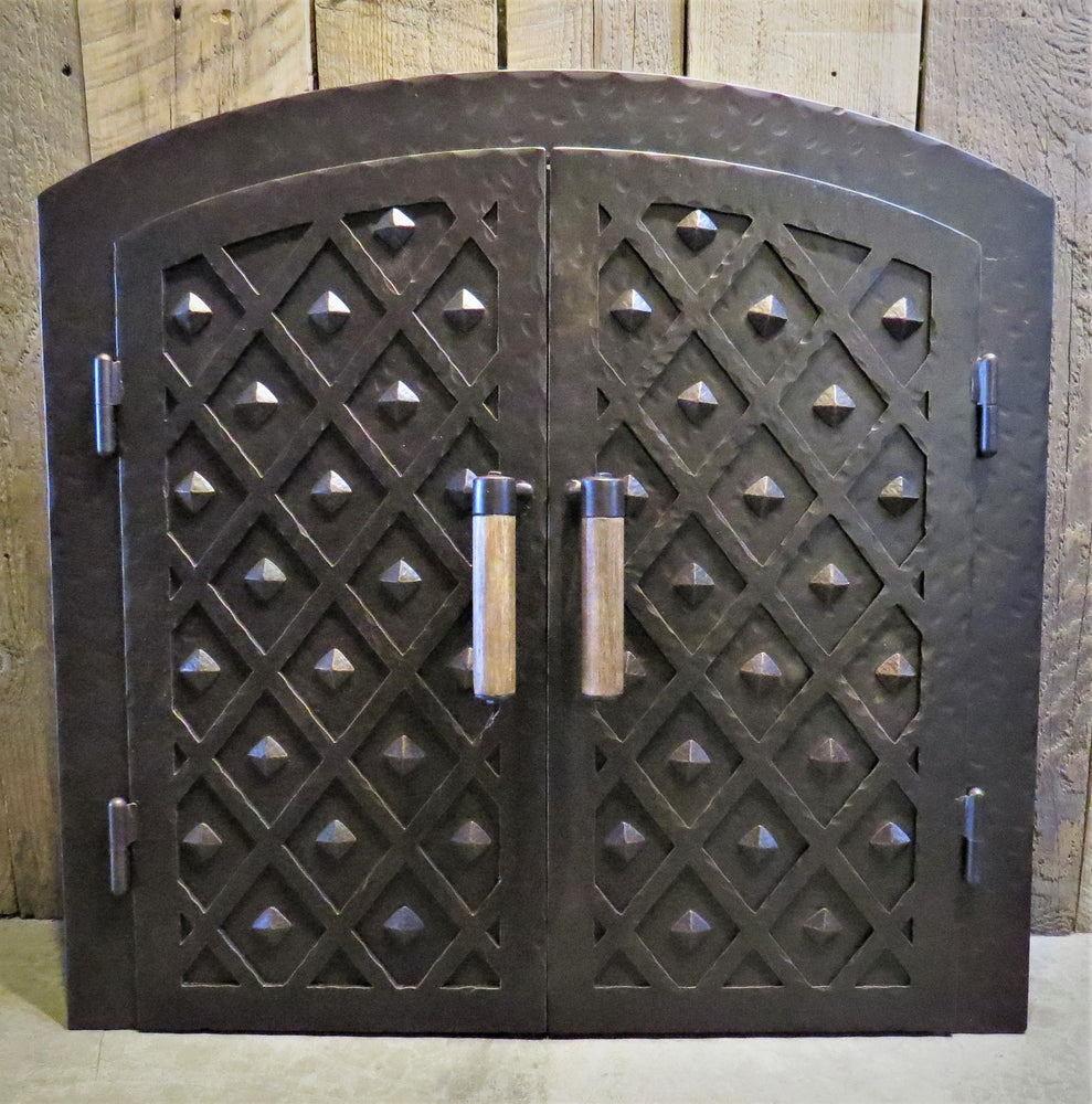 Custom French Country Arched Hinged Pizza Oven Door