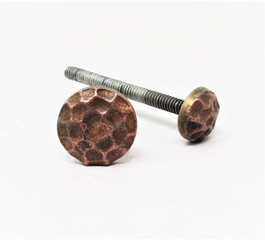 "Load image into Gallery viewer, 3/4"" Hammered Round Copper Bolt"