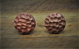 "1"" Hammered Round Copper Bolt"