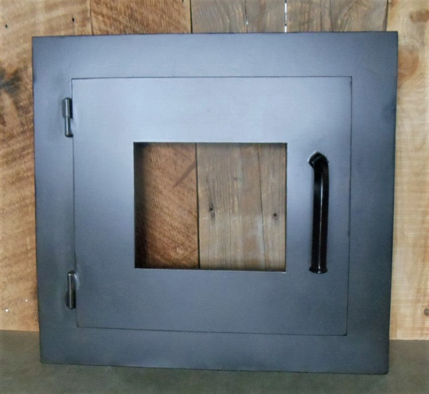 Custom Modern Rectangle Hinged Pizza Oven Door