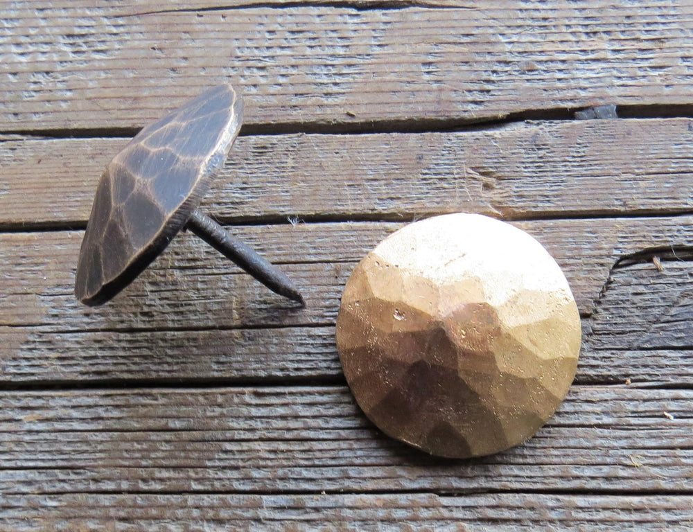 "1"" Hammered Round Pyramid Head Solid Bronze Nail"
