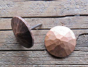 "1"" Hammered Round Pyramid Head Solid Copper Nail"