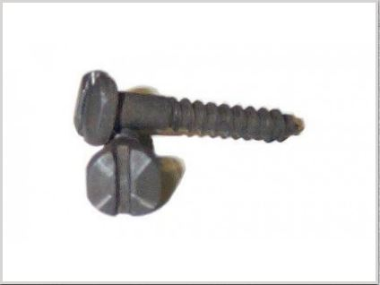 #6 Hammered Pyramid Slotted Head Screw